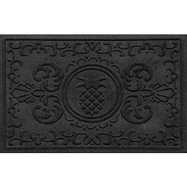 Bungalow Flooring Aqua Shield Baroque Pineapple Doormat; Charcoal