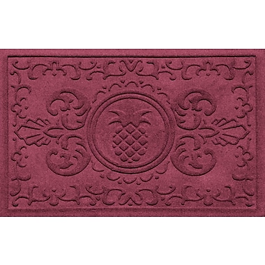 Bungalow Flooring Aqua Shield Baroque Pineapple Doormat; Bordeaux