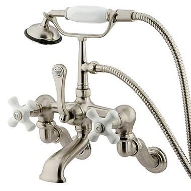Kingston Brass Vintage Clawfoot Tub Faucet; Satin Nickel