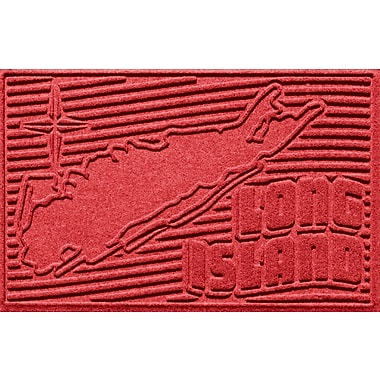 Bungalow Flooring Aqua Shield Long Island Doormat; Solid Red