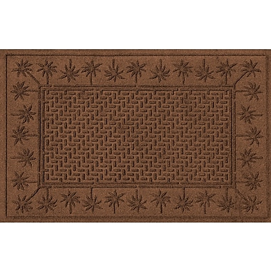 Bungalow Flooring Aqua Shield Island Palms Doormat; Dark Brown