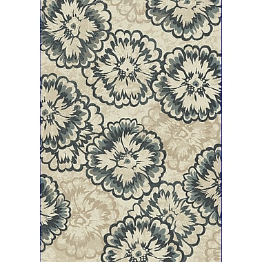 Dynamic Rugs Melody Ivory/Blue Area Rug; 5'3'' x 7'7''