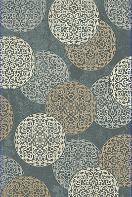 Dynamic Rugs Melody Blue Area Rug; 5'3'' x 7'7''