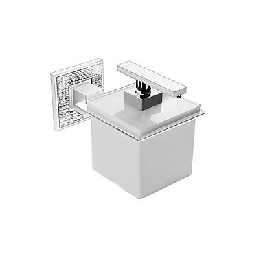 ZEN Design Diamond Wall Soap Dispenser; Polished Chrome / White