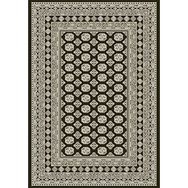 Dynamic Rugs Ancient Garden Charcoal/Silver Area Rug; 9'2'' x 12'10''