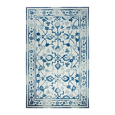 Dynamic Rugs Avalon Ivory/Dark Blue Area Rug; 3'3'' x 5'3''