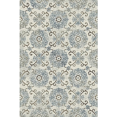 Dynamic Rugs Royal Treasure Ivory/Blue Area Rug; 9'2'' x 12'10''