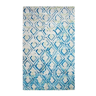 Dynamic Rugs Vogue Gray/Turquoise Area Rug; 4' x 6'