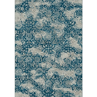 Dynamic Rugs Regal Gray/Blue Area Rug; 6'7'' x 9'6''