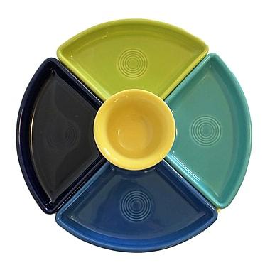 Fiesta 5 Piece Bowl Set; Cobalt/Turquoise/Lemongrass/Lapis/Sunflower