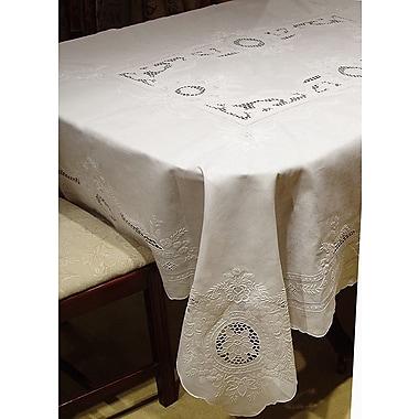 Fino Lino Penelope Floral Tablecloth & Napkin Set; 100'' round