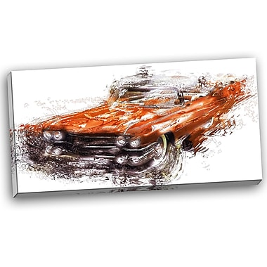 DesignArt Burnt Classic Car Graphic Art on Wrapped Canvas
