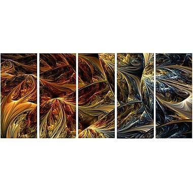 DesignArt Molten Abstract 5 Piece Graphic Art on Wrapped Canvas Set