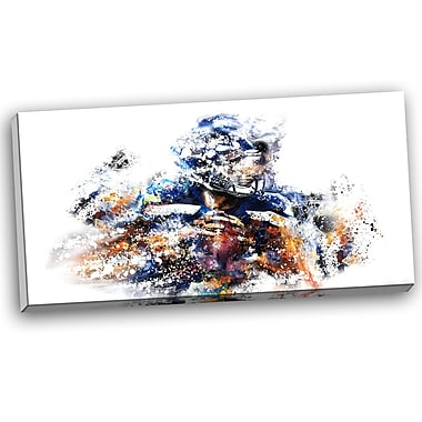 DesignArt Football Quarterback Graphic Art on Wrapped Canvas