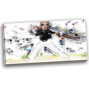 DesignArt Baseball Home Run Graphic Art on Wrapped Canvas