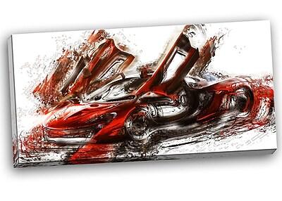 DesignArt Burnt Sports Car Graphic Art on Wrapped Canvas