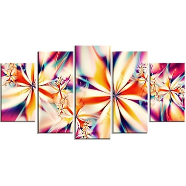 DesignArt Crystalize Floral 5 Piece Graphic Art on Wrapped Canvas Set