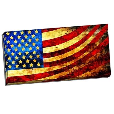 DesignArt God Bless America Flag Graphic Art on Wrapped Canvas