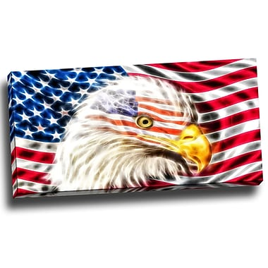 DesignArt Land of the Free - Eagle Graphic Art on Wrapped Canvas