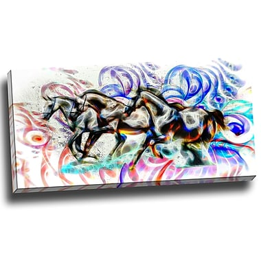 DesignArt Graffiti Horses Graphic Art on Wrapped Canvas