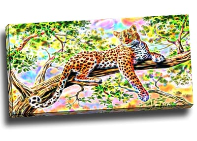 DesignArt Watchful Cheeta Graphic Art on Wrapped Canvas