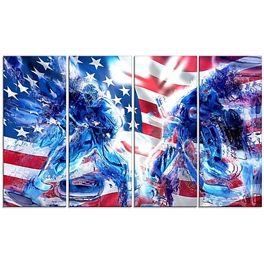 DesignArt Hockey USA Goalie 4 Piece Graphic Art on Wrapped Canvas Set