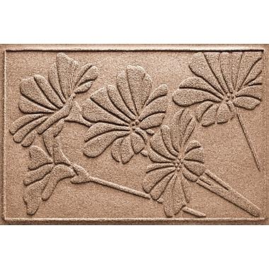 Bungalow Flooring Aqua Shield Spring Flowers Doormat; Medium Brown