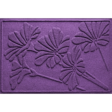 Bungalow Flooring Aqua Shield Spring Flowers Doormat; Purple