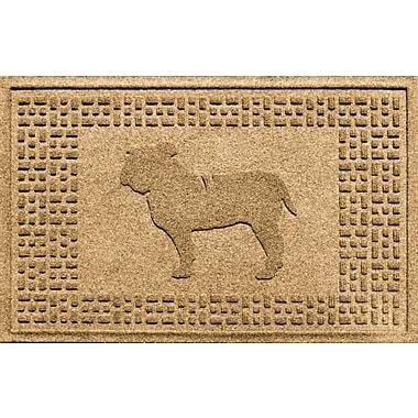 Bungalow Flooring Aqua Shield Bulldog Doormat; Gold