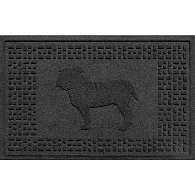 Bungalow Flooring Aqua Shield Bulldog Doormat; Charcoal
