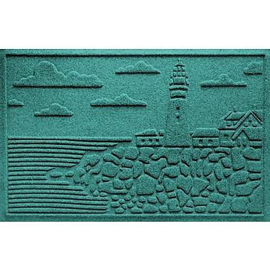 Bungalow Flooring Aqua Shield Lighthouse Cove Doormat; Camel