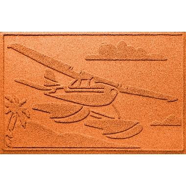 Bungalow Flooring Aqua Shield Sea Plane Doormat; Orange