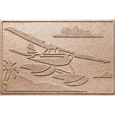 Bungalow Flooring Aqua Shield Sea Plane Doormat; Medium Brown