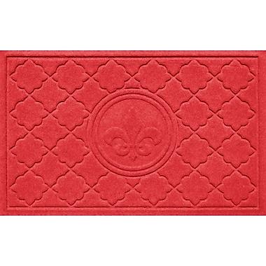 Bungalow Flooring Aqua Shield Bombay Fleur de Lis Doormat; Solid Red