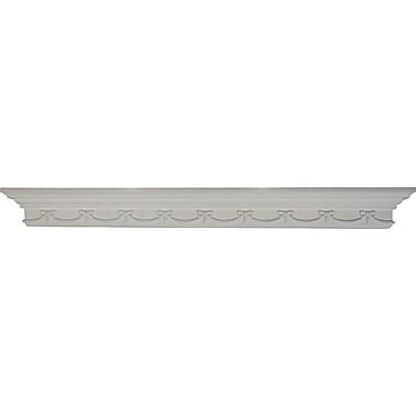 Ekena Millwork Versailles 4 3/8''H x 48''W x 4 1/8''D Shelf