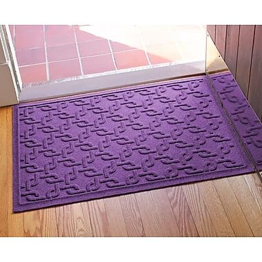 Bungalow Flooring Aqua Shield Interlink Doormat; Purple