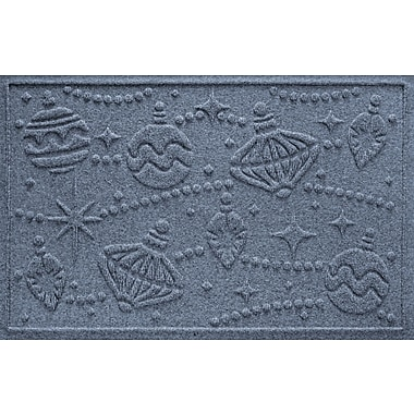 Bungalow Flooring Aqua Shield Ornaments Doormat; Solid Red