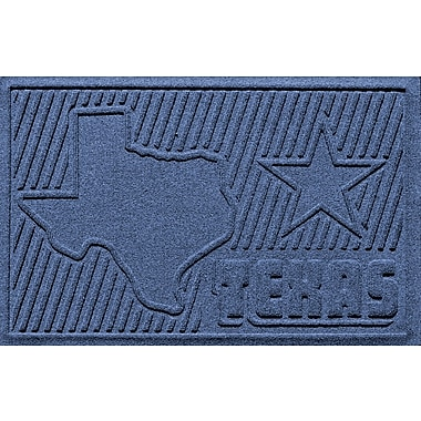 Bungalow Flooring Aqua Shield Texas Doormat; Navy