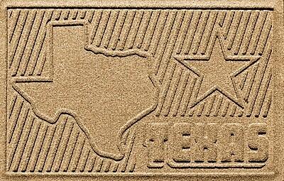 Bungalow Flooring Aqua Shield Texas Doormat; Gold