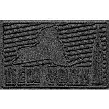 Bungalow Flooring Aqua Shield New York Doormat; Charcoal