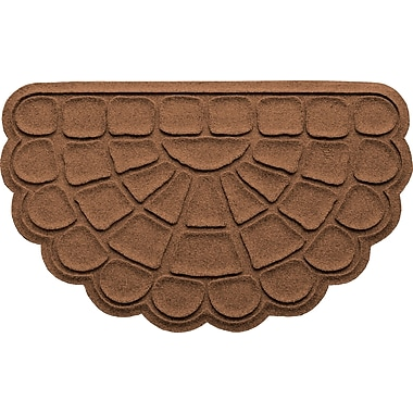 Bungalow Flooring Aqua Shield Cobblestone Slice Doormat; Dark Brown
