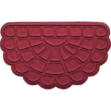 Bungalow Flooring Aqua Shield Cobblestone Slice Doormat; Red/Black