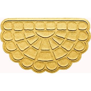 Bungalow Flooring Aqua Shield Cobblestone Slice Doormat; Yellow