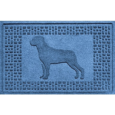 Bungalow Flooring Aqua Shield Rottweiler Doormat; Medium Blue