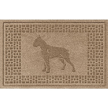 Bungalow Flooring Aqua Shield Boxer Doormat; Camel