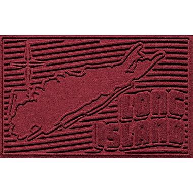 Bungalow Flooring Aqua Shield Long Island Doormat; Red/Black