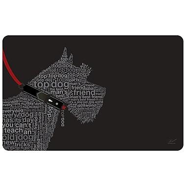 Bungalow Flooring Surfaces Terrier Words Doormat; Black