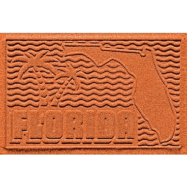 Bungalow Flooring Aqua Shield Florida Doormat; Orange