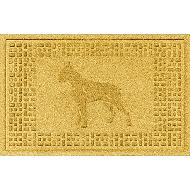 Bungalow Flooring Aqua Shield Boxer Doormat; Yellow