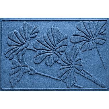 Bungalow Flooring Aqua Shield Spring Flowers Doormat; Medium Blue